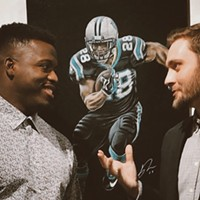 Meet Baxter, a talented NC artist known for his chalk drawings of pro athletes