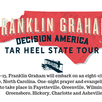Franklin Graham Tar Heel State Tour (Oct 1-13)