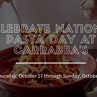 Bite Into $10 Pasta for National Pasta Day at Carrabba's Italian Grill