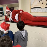 NC elementary principal poses around school as 'Elf on the Shelf'