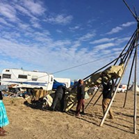 Water protectors at Oceti Sakowin camp in North Dakota brace for cold weather, eviction deadline
