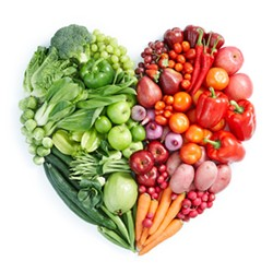 colorful heart shape made of vegetables - Uploaded by ajnewso2