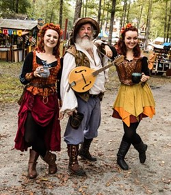 Zilch the Torysteller and the Redlich Sisters await you at the Carolina Renaissance Festival! - Uploaded by MarkAsst