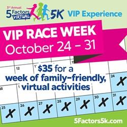 5 Factors (virtual) 5K - a virtual week long experience for everyone! - Uploaded by anne korfas