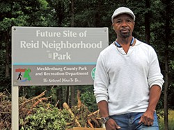 Rickey Hall, president of the Reid Park neighborhood association, has fought to get a park built in his community for over two decades. It's expected to open in August.