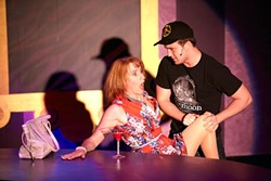 GEORGE HENDRICKS - Josephine Hall and Grant Zavitkovsky in Cougar: The Musical.
