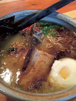 Futo Buta Ramen House's tonkotsu ramen. (Photo credit: Tricia Childress)