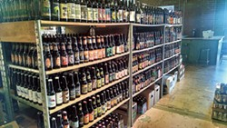 A look at some of the inventory at Good Bottle Co. on Remount Road. (Photo credit: Jonathan Wells)