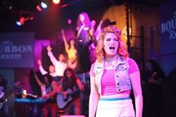 Savannah-Lee Mumford as Sherrie Christian in Rock of Ages. (Photo credit: George Hendricks Photography)