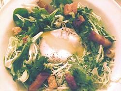 Salade Lyonnaise at Aix en Provence.