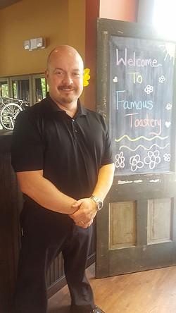 Patrick McManaman of Famous Toastery in University area. (Photo by Laura Eason)