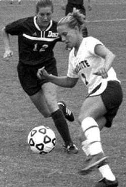 RADOK - UNC-Charlotte Women's Soccer team battled Duke in - a recent game