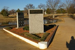 TARA SERVATIUS - UNKNOWING VICTIM: Police memorial at Sharon Memorial Park Cemetery