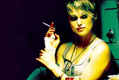 UP IN SMOKE Keira Knightley huffs and puffs to no avail in Domino (New Line)