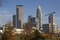 ANGUS LAMOND - UPTOWN BLUES: Charlotte's bank-driven skyline