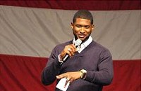 Usher, Hill Harper in Charlotte