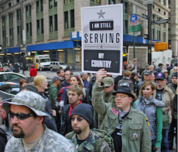 Veterans take part in Occupy Wall Street
