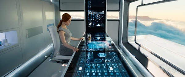 Victoria (Andrea Riseborough) keeps watch. (Photo: Universal)