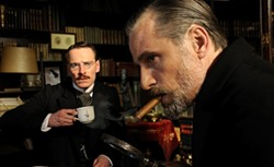 SONY PICTURES CLASSICS - Viggo Mortensen (foreground) and Michael Fassbender in A Dangerous Method