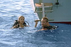 JOHN P. JOHNSON/MGM & COLUMBIA - WATERLOGGED Jessica Alba and Paul Walker try to keep their careers afloat in Into the Blue