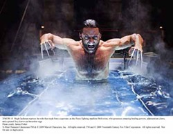 JAMES FISHER - WET AND WILD: Actor Hugh Jackman, portraying Wolverine, in a scene from the upcoming movie.