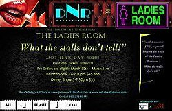"""What happens when you infuse DRAMA, COMEDY & SUSPENSE, all in one theatrical production, sprinkled with a beautifully diverse cast of radiant women? You get the THRILL-RIDE of a life time called, """"The Ladies Room!"""" Coming soon to a Theater near you. Opening in Charlotte, NC on May 10th Mother's Day, this is a show, you won't want to miss!!!"""