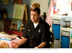 TRACY BENNETT / DISNEY - WHAT'S THAT SMELL?: Adam Sandler and Bugsy in Bedtime Stories.