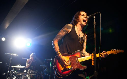 When Against Me! performed at Amos' Southend on June 14, 2012, singer Laura Jane Grace left a lasting impression on everyone who had previously known her as Tom Gabel. Rock 'n' roll never felt so freeing. - ALL PHOTOS BY JEFF HAHNE