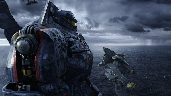 WHERE'S SHIA LABEOUF WHEN YOU NEED HIM?: The mechanical marvels Gipsy Danger and Striker Eureka prepare for battle in Pacific Rim. (Photo: Warner Bros.)