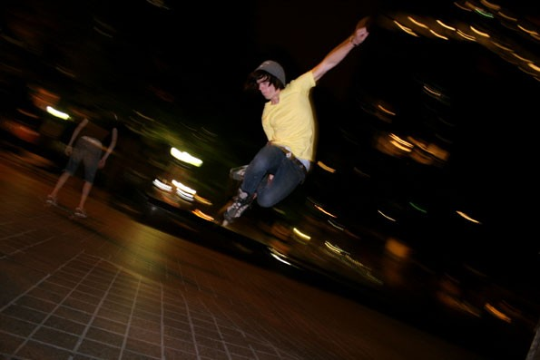 WILD STYLE: Tyler Hull, 15, frequents Uptown just about every night to skateboard, hang out with friends and/or take photographs. - CATALINA KULCZAR
