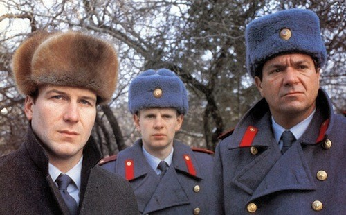 William Hurt, Patrick Field and Michael Elphick in Gorky Park (Photo: Kino)