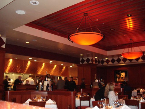 With an open kitchen, Fleming's hopes to convey a more relaxed steakhouse feeling.