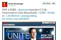 You can't make this up: Santorum launches C.U.M.
