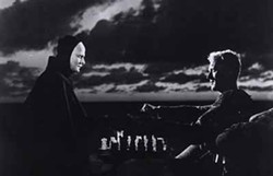 COURTESY OF THE CRITERION COLLECTION - YOUR MOVE: Knight Antonius Block (Max von Sydow, right) tries to beat Death (Bengt Ekerot) at his own game in The Seventh Seal.