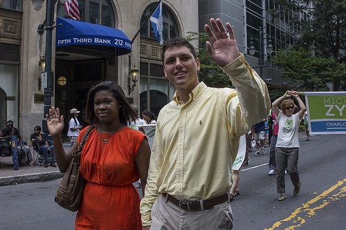 Zytkow and his wife at the Labor Day parade.