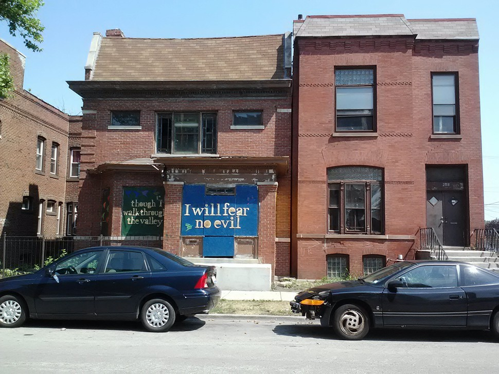 2720 W. Monroe, a vacant building turned into public art