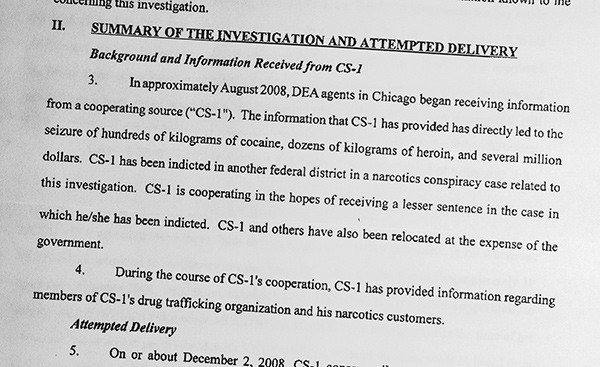 A court document describes the value of Confidential Source No. 1: Pedro Flores