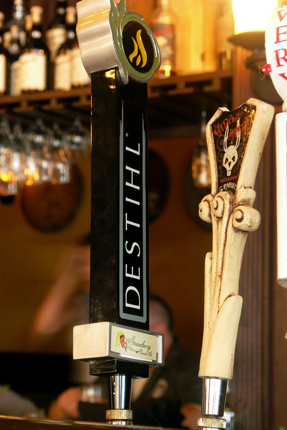 A Destihl tap handle, spotted in the wild at Fountainhead