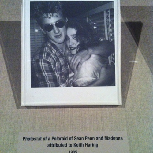 A photograph of a photostat of a Polaroid of Sean Penn and Madonna attributed to Keith Haring, 2011