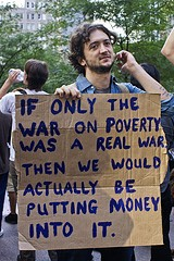 A protester in New York City last September
