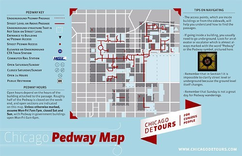 A segment of Scoteses pedway map