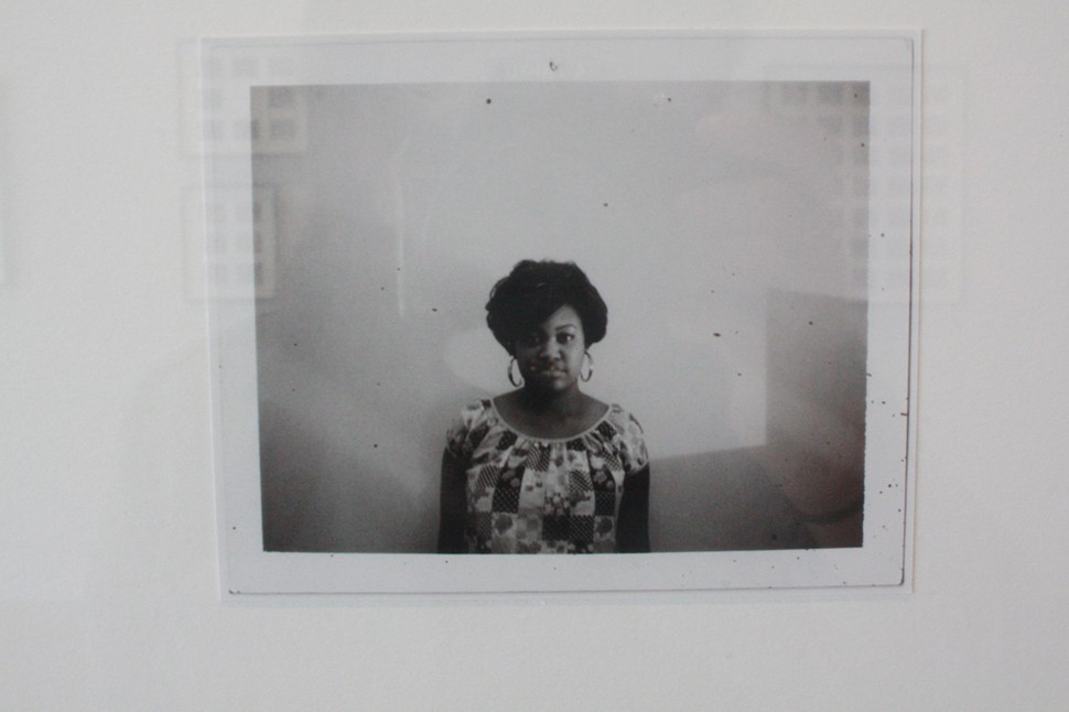 A single image from Mickalene Thomas's Polaroid Series