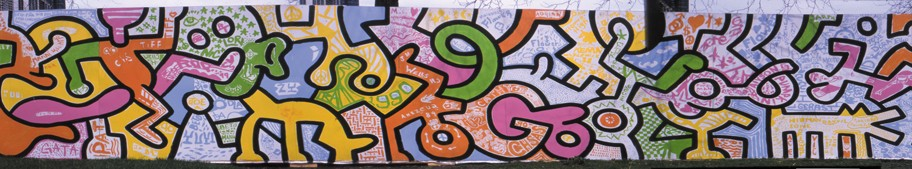 A small portion of the Haring mural. - MARCELINO Y. FAHD