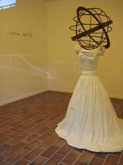 A sort of street fashion: Anselm Kiefers sculpture Regina Coeli, glimpsed in a gallery window.