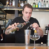 Johnny Costello Jr. of GT Fish & Oyster makes the Forager Add 1 1/2 oz pisco Jacob Yeung