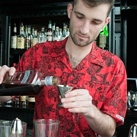 Danny Shapiro of Scofflaw makes a Poopsicle Add 3/4 oz Plymouth Sloe Gin. Andrea Bauer