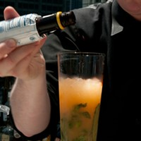 Step-by-step instructions for making Ingi Sigurdsson's sweet potato swizzle Add a dash of Angostura bitters. Andrea Bauer
