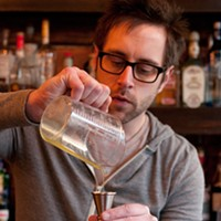 Step-by-step instructions for making Jay Schroeder's PEZ cocktail Add an eighth of an ounce of the PEZ syrup. Andrea Bauer