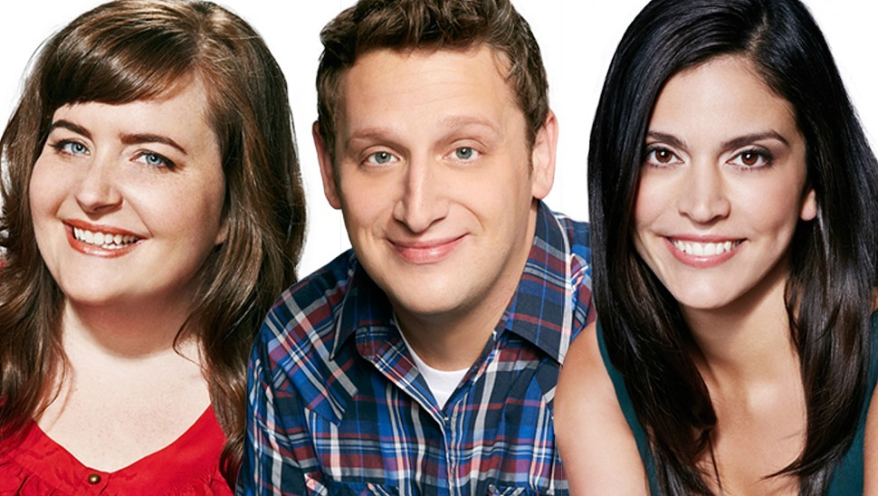 Aidy Bryant, Tim Robinson, and Cecily Strong, aka Knuckleheads