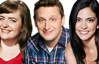 Knuckleheads (Tim Robinson, Aidy Bryant, and Cecily Strong) at Just for Laughs